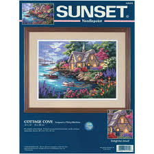 amazon com dimensions needlecrafts needlepoint cottage cove