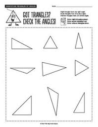 free 5th grade geometry math worksheets triangle classification