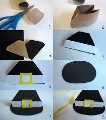 Pilgrim Hats Out Of Construction Paper - craft pilgrim hat doll mag