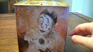 evil creepy scary haunted clown jack in the box toy that i got