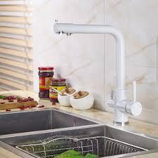 Brass Kitchen Faucet Online Get Cheap Kitchen Faucets White Aliexpress Com Alibaba Group