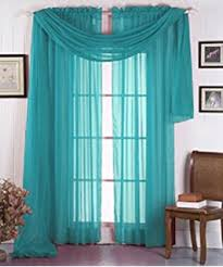 Blue Swag Valance Amazon Com Gorgeous Home 1 Solid Decorative Teal Blue Elegant
