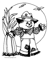 coloring sheets scarecrow pictures to color