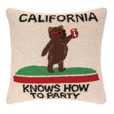 California Flag Bear California Republic State Flag Bear Bumper Sticker Decal Stickers