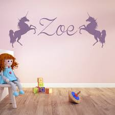 popular wallpaper girls name buy cheap wallpaper girls name lots unicorn personalised name wall stickers hot sale wall decal girls room nursery home decor wallpaper removable
