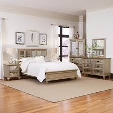 5pc bedroom set home styles visions 5 piece silver gold chagne finish king