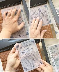wedding invitation diy translucent wedding invitation diy with print chic