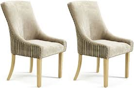 Fabric Dining Chairs Uk Buy Serene Richmond Sand Mink Fabric Dining Chair Pair