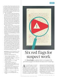 Six Flags Adress Reproducibility Six Red Flags For Suspect Work Pdf Download