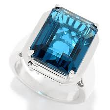rings blue topaz images Gem insider sterling silver 11 60ctw emerald cut london blue
