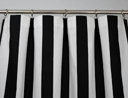 black white modern vertical stripe curtains rod pocket 84