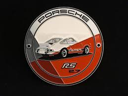 orange porsche grill badge porsche 911 2 7 carrera rs orange porsche design