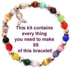 beaded bracelet kit images Wholesale cancer awareness products complete bracelet kit jpg