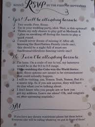 wedding invitations with rsvp rsvp card shows s sense of humor photo huffpost