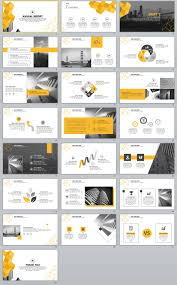 22 best yellow annual report powerpoint template the highest
