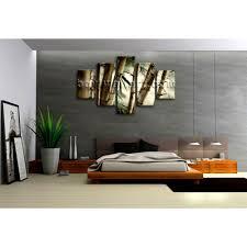 Zen Bedroom Wall Art Large Feng Shui Zen Abstract Wall Art Decor Hd Print Canvas Bamboo