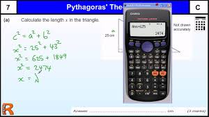 pythagoras theorem gcse maths revision exam paper practice u0026 help