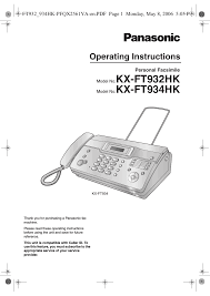 panasonic kx ft934hk user manual 44 pages also for kx ft932hk