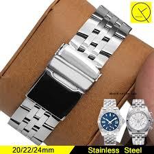 breitling steel bracelet images Stainless steel watchband for man watch band for breitling strap jpg
