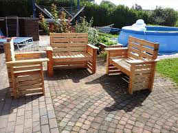Make Wood Patio Furniture by Diy Wooden Pallet Patio Furniture Set 101 Pallet Ideas