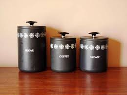 kitchen canisters black black kitchen canister set ceg portland popular kitchen
