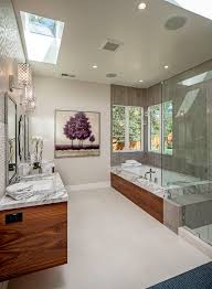 Tile Accent Wall Bathroom Tile Accent Wall Bathroom Transitional With Geometric Pendant