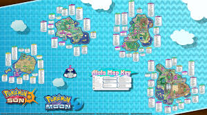 Moon Map Pokemon Sun And Moon Maps Pokemon And Zygarde Locations 1080p