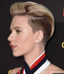 scarlett johanssons razed undercut is glorious the huffington