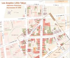 Google Maps Los Angeles Little Tokyo Detail Map Normal View
