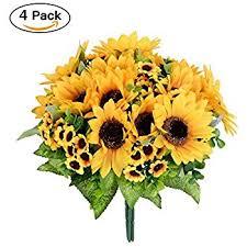 Artificial Flower Bouquets Amazon Com Amyhomie Artificial Sunflower Bouquet 7 Flowers Per