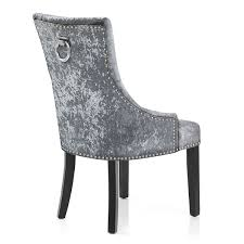 Dining Chairs Sale Uk Atlantic Shopping Ascot Dining Chair Grey Velvet Co Uk