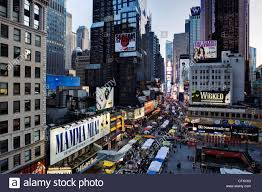 manhattan broadway looking towards times square new york united