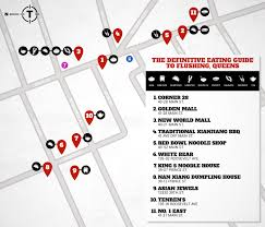 New York Ramen Map by Flushing Queens Definitive Restaurant Guide Chinatown Nyc