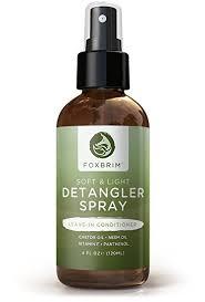 light oils for hair amazon com hair detangler spray natural organic foxbrim soft