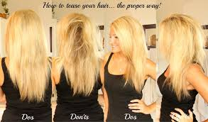 getting fullness on the hair crown how to tease your hair the proper way video
