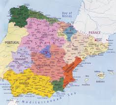Burgos Spain Map by Administrative Map Of Spain With Major Cities Spain Europe