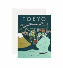 Paper Maps Tokyo Map Greeting Card By Rifle Paper Co Made In Usa