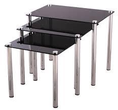 metal u0026 glass nesting tables keko furniture