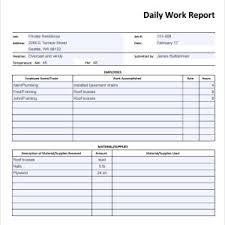 simple business report template daily work report template sle with simple table layout
