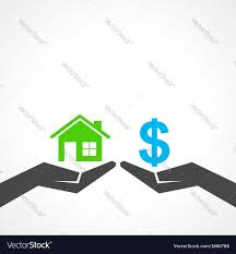 save home and money concept royalty free vector image