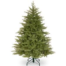 6 5ft pre lit frosted hampton spruce feel real artificial