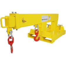 forklift mobile crane lifting hoist truss jib boom 2 hooks 5500 lb