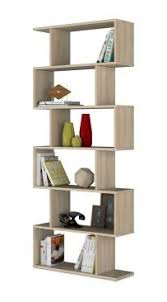 Narrow Room Divider Ciara 6 Tier Light Oak Open Bookcase Narrow Room Divider