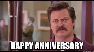 Meme Generator Happy - happy anniversary ron swanson tough meme generator