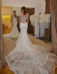 mermaid wedding dresses sheer lace bodice galiala 2017 bridal wedding