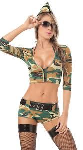 Army Costumes Halloween Wholesale Brand Women Soldier Costumes Camouflage Army
