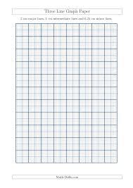 three line graph paper with 2 cm major lines 1 cm intermediate