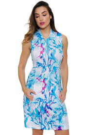 ny dress ep pro ny al fresco watercolor marble print golf dress epny 0240nbd