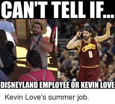 Kevin Love Meme - can t tellif onbamemes disneyland employee or kevin love kevin
