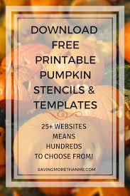 free printable pumpkin stencils halloween printables